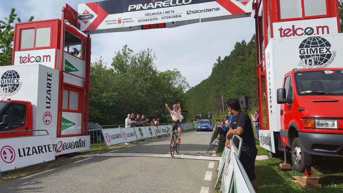 Vanhoucke gana en Muskilda y se convierte en el nuevo lider de la Vuelta a Navarra